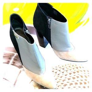 Calvin Klein leather heeled booties sz 8.5